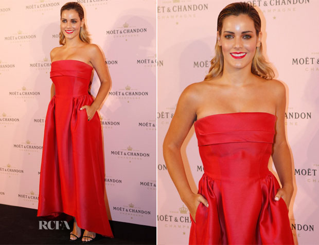 Alejandra Onieva In Alberta Ferretti - Moet 'Rose Moon Night' Party