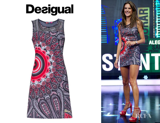 Alessandra Ambrosio's Desigual 'Maxins' Sleeveless Dress