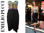 Alessandra Ambrosio's Emilio Pucci Beaded Bustier Dress