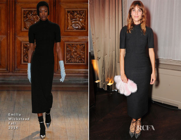 Alexa Chung In Emilia Wickstead -  The Business of Fashion Party