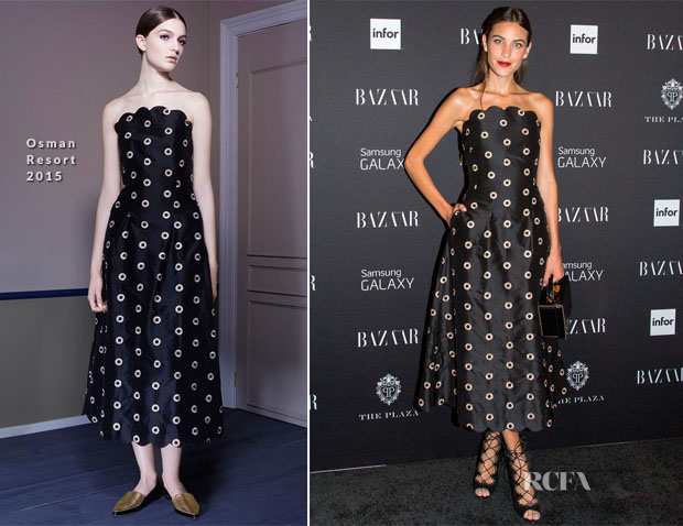 Alexa Chung In Osman - Harper's Bazaar Celebrates ICONS by Carine Roitfeld Party