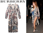 Alexa Chung's Burberry Prorsum Floral-Print Silk-Georgette Dress
