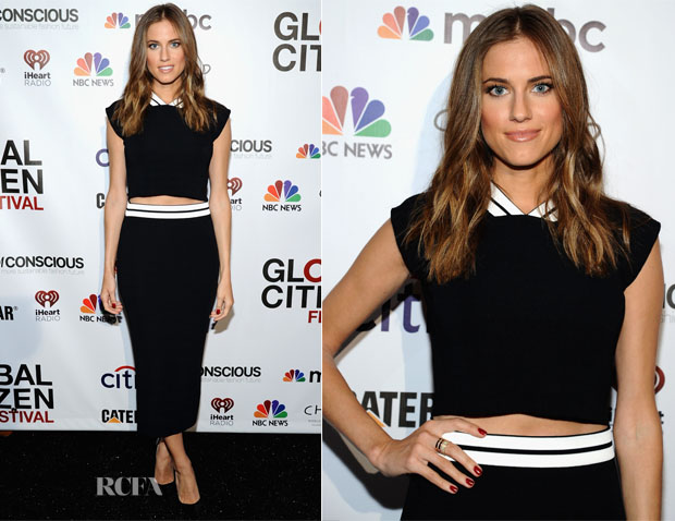 Allison Williams In Vionnet - 2014 Global Citizen Festival