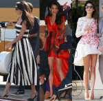 Amal Alamuddin In Dolce & Gabbana, Alexander McQueen & Giambattista Valli Couture - Wedding Weekend
