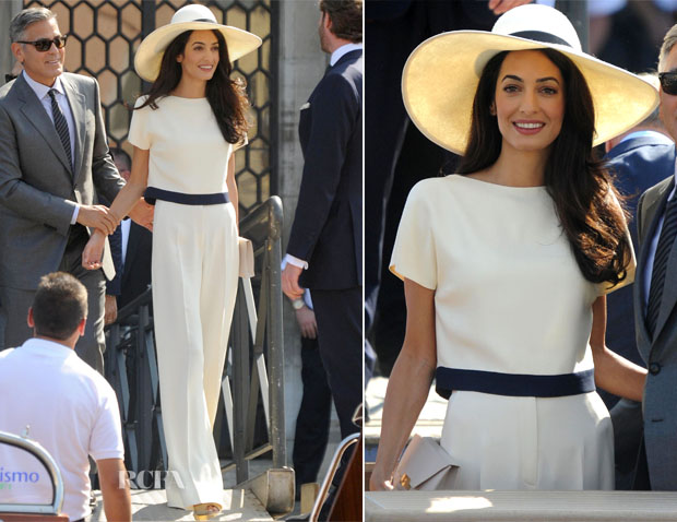 Amal Alamuddin In Stella McCartney - Civil Ceremony
