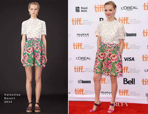 Amanda Seyfried In Valentino -  'While We're Young' Toronto Film Festival Premiere