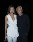 Ashley Madekwe in Emporio Armani