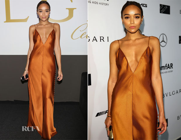 Ashley Madekwe In Wes Gordon - amfAR Milano 2014 Gala