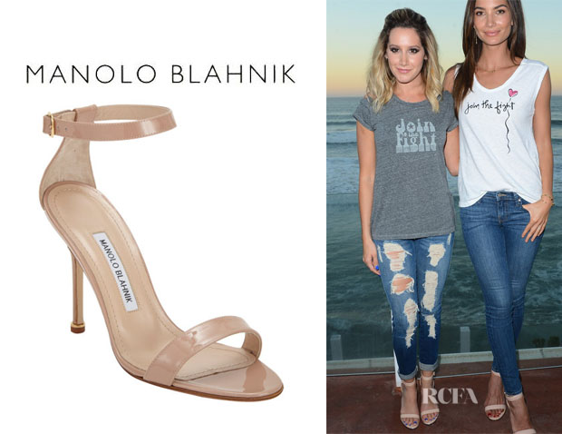 Ashley Tisdale's Manolo Blahnik 'Chaos' Ankle-Strap Sandals