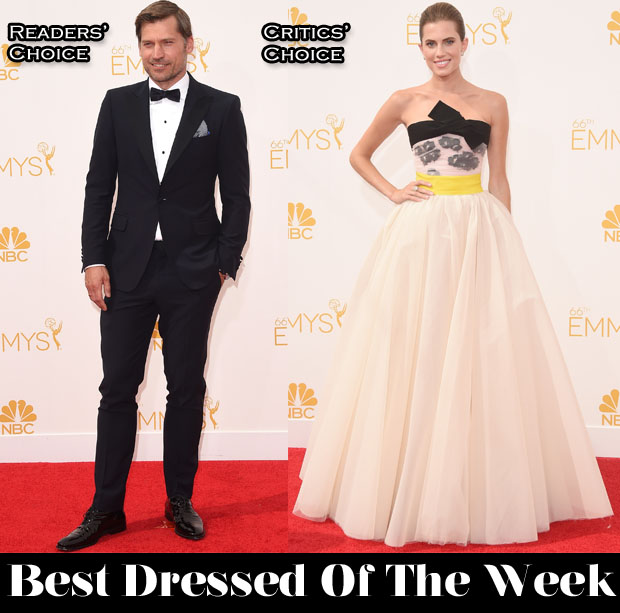 Best Dressed Of The Week - Allison Williams In Giambattista Valli Couture & Nikolaj Coster-Waldau In Salvatore Ferragamo