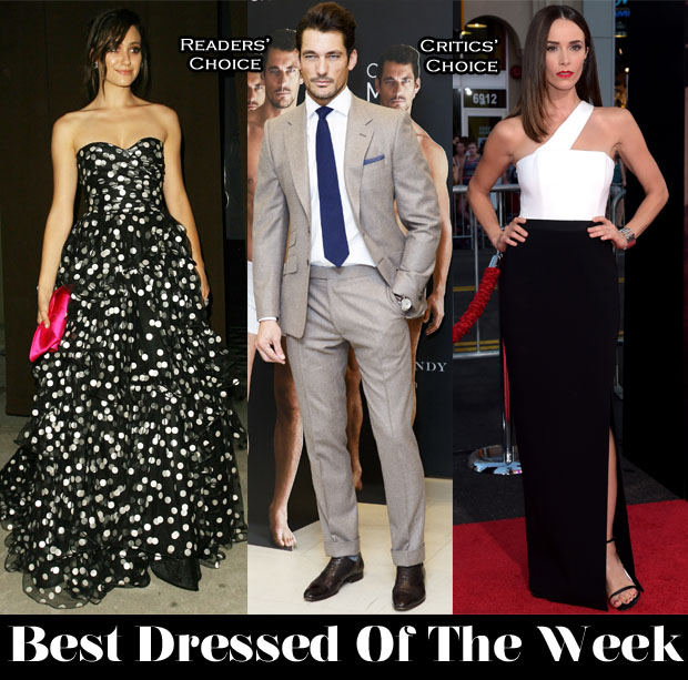 Best Dressed Of The Week - Emmy Rossum In Oscar de la Renta, Abigail Spencer In Paule Ka & David Gandy In Marks & Spencer