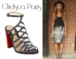 Beyoncé Knowles' Chelsea Paris Snakeskin And Ponyhair 'Nkoyo' Sandals
