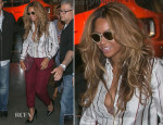 Beyonce Knowles In Maison Martin Margiela & Haute Hippie -  Nolita Restaurant
