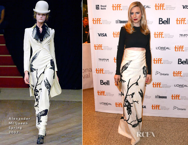 Brit Marling In Proenza Schouler & Alexander McQueen - 'The Keeping Room' Toronto  Film Festival Premiere