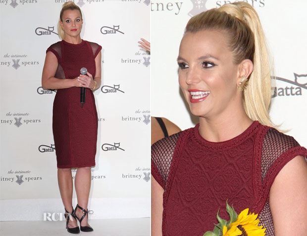 Britney Spears In Tadashi Shoji - 'The Intimate Britney Spears' Poland Fashion Show