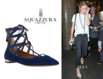 Brooklyn Decker's Aquazzura 'Belgravia' Flats