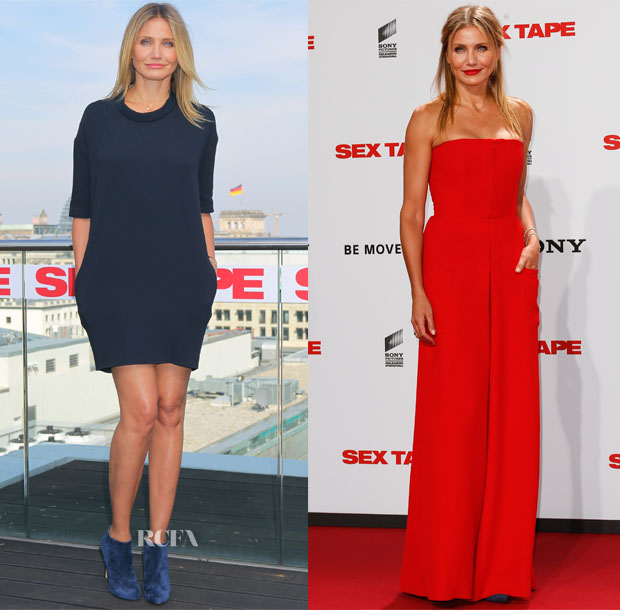 Cameron Diaz In Stella McCartney & Christian Dior - 'Sex Tape' Berlin Photocall & Premiere