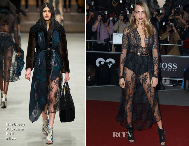 Cara Delevingne In Burberry Prorsum  - 2014 GQ Men of the Year Awards