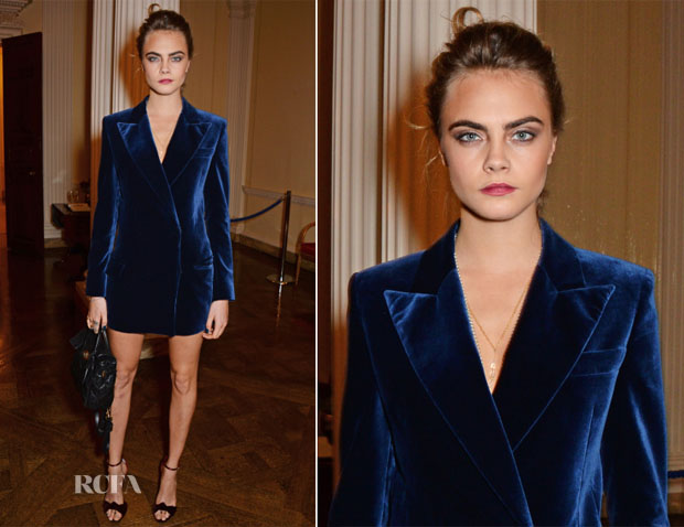 Cara Delevingne In Emilio Pucci - Vogue and J Crew London Fashion Week Dinner