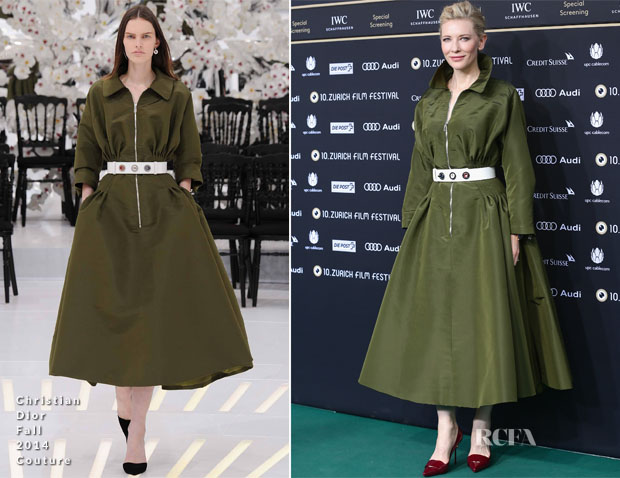 Cate Blanchett In Christian Dior Couture - 'Blue Jasmine' Zurich Film Festival Screening