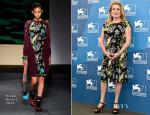Catherine Deneuve In Prada - '3 Coeurs' Venice Film Festival Photocall