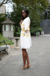 Giambattista Valli Coat, Giambattista Valli Dress and Jimmy Choo Sandals