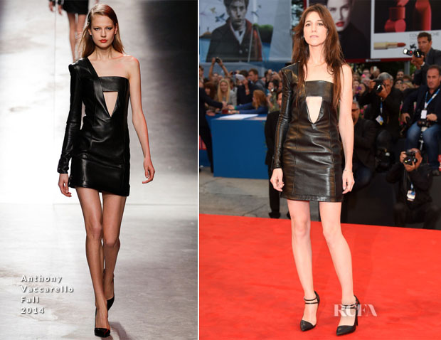 Charlotte Gainsbourg In Anthony Vaccarello - – 'Nymphomaniac: Volume 2 – Directors Cut' Venice Film Festival Premiere