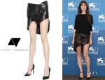 Charlotte Gainsbourg's Anthony Vaccarello Asymmetrical Ruffle Skirt