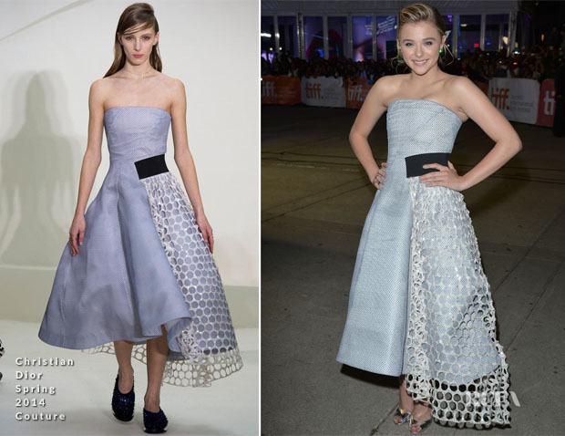 Chloe Grace Moretz In Christian Dior Couture - 'The Equalizer'  Toronto Film Festival Premiere