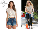 Chloe Grace Moretz' Lovers + Friends 'Zuma' Crop Top