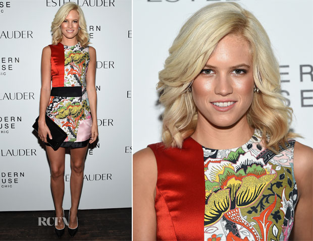 Cody Horn In Jonathan Saunders - Estee Lauder Modern Muse Moments Screening