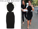 Coleen Rooney's Roland Mouret 'Timarcha' Paneled Crepe Dress
