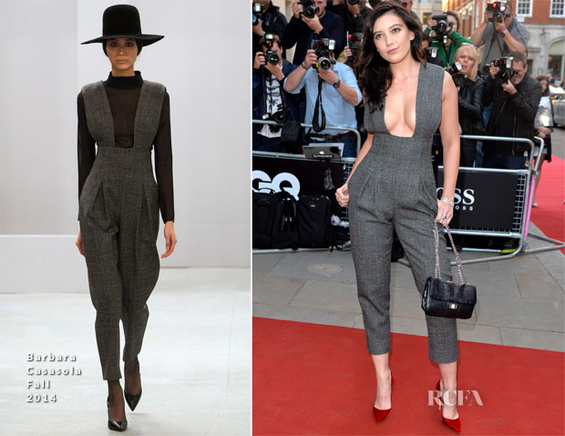 Daisy Lowe In Barbara Casasola - 2014  GQ Men of the Year Awards