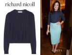 Daisy Lowe's Richard Nicoll Cropped Cable-Knit Sweater