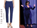 Demi Lovato's Ted Baker London Jacquard Suit Trousers