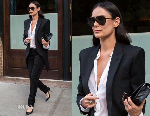 Demi Moore In Saint Laurent - Out In New York City