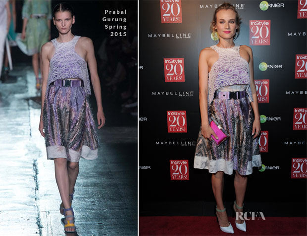 Diane Kruger In Prabal Gurung - InStyle 20th Anniversary Celebration2