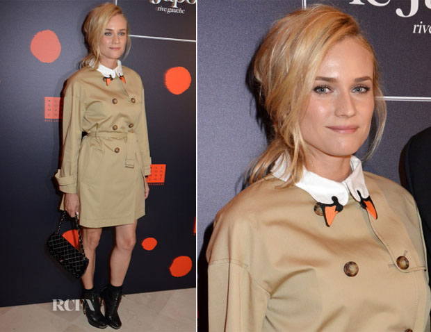 Diane Kruger In RED Valentino - 'Japan Rive Gauche' Exhibition Preview