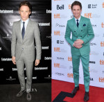 Eddie Redmayne In Alexander McQueen & Burberry -  HFPA & InStyle's 2014 TIFF Celebration & 'Theory of Everything'  Toronto Film Festival Premiere