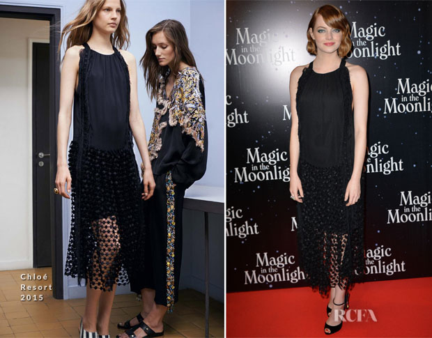 Emma Stone In Chloé - 'Magic In The Moonlight' Paris Premiere