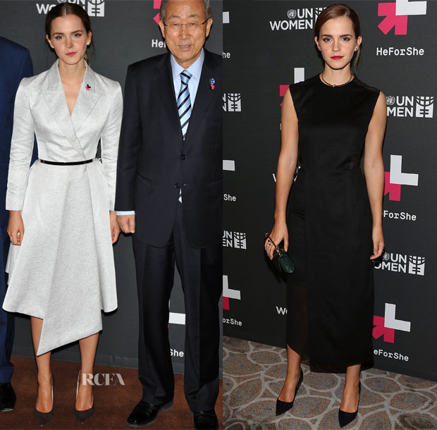 Emma Watson In Christian Dior & BOSS - HeForShe Campaign Launch & After-Party