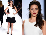 Emmy Rossum In Barbara Bui - Project Runway 2014 Final