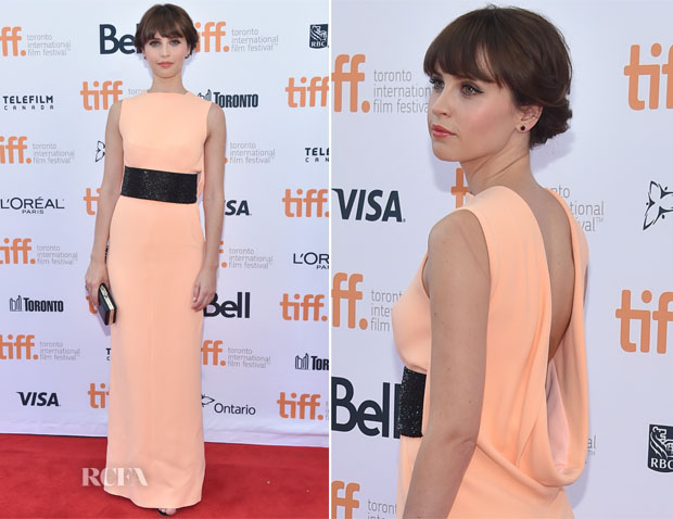 Felicity Jones In Balenciaga - 'The Theory of Everything' Toronto Film Festival Premiere