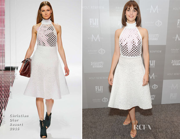 Felicity Jones In Christian Dior - Variety Studio At Holt Renfrew