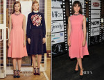 Felicity Jones In Erdem - NKPR IT Lounge Portrait Studio With W Magazine