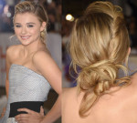 Get The Look: Chloe Grace Moretz' 'The Equalizer' Toronto Film Festival Premiere Modern Updo