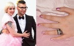 Get The Look: Lena Dunham's Emmy Awards Pink Metallic Manicure