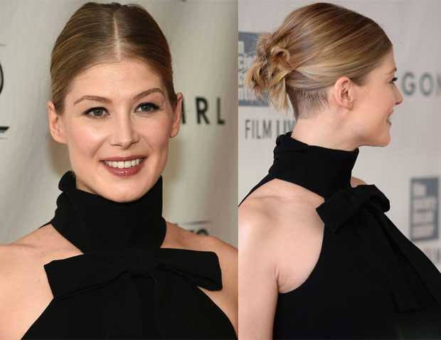 Get The Look Rosamund Pike's Modern, Cool 'Gone Girl' World Premiere Hair