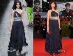 Giorgia Sinicorni In Vionnet - '3 Coeurs' Venice Film Festival Premiere