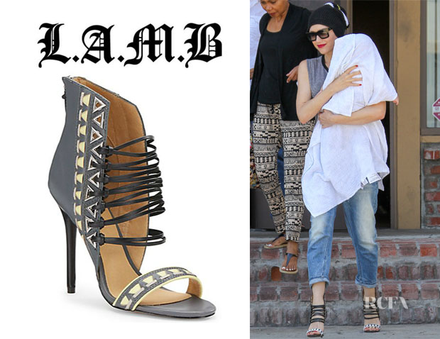 Gwen Stefani's L.A.M.B. 'Savanna' Leather Strappy Sandals